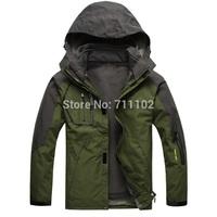 new men winter Jackets outdoor outwear sports waterproof  hood Rainproof removal male wear autumn clothes BRAND trench 2 in 1
