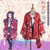 Hot Sale Custom Made Hanayamata Yaya Sasame Kimono Cosplay Costume