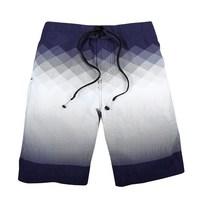 MEN beach Shorts elastic waist gradient color