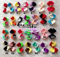 6.5cm Basic Girls Hair Bow Grosgrain Ribbon Bow Boutique Bow Mix Color 60pcs/Lot