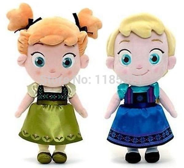 Nuovo arrivo del bambino 30 centimetri giocattolo congelati infanzia sorelle anna& Elsa bambola della peluche giocattoli per bambini ragazzi morbido ripieno& pupazzi di peluche
