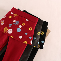 autumn&winter warm thick  tight render pants for girl
