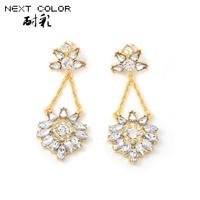 Brinco Sale Acrylic Zinc Alloy Water Drop Earrings for Women free Shipping 2014 New Earrings Classic Sterling Women Jewelry
