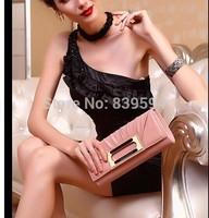 2014 new first layer of leather hand bag dinner small handbag shoulder bag folds