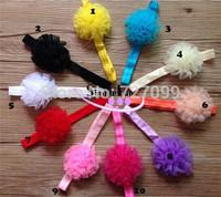 Cheap Baby Headband FOE Girls Headband with Organza Bow Mix Color 50pcs/Lot