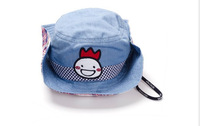 100% cotton denim kid's bucket hat cute fall and winter bucket hat with high quality