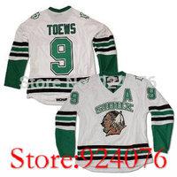 University #9 JONATHAN TOEWS NORTH DAKOTA Dakota Fighting Sioux Home Hockey Jersey White