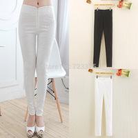 2014 South Korea fashion brand New women big size Lace leggings Lady spring Stretch leggings Nine minutes of pants Free shipping