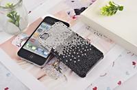 2014 Hot Free shipping(10pcs/lot) Wholesale Fashion gradient black protector diamante cellphone case