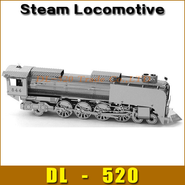 DIY model Build Metal 3D Models Metallic Nano Puzzle DIY 3D Steam Locomotive Laser Cut 3D Model,1 pcs free shipping(China (Mainland))