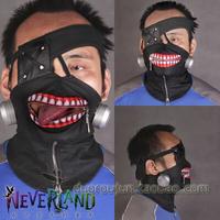 Hot Sales Halloween Japanese Anime Cosplay Tokyo Ghoul Kaneki Ken Mask Adjustable Zipper Masks PU Leather Cool Mask