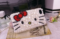 2014 Hot Free shipping(10pcs/lot) Wholesale Fashion Kitty protector crystal cellphone case