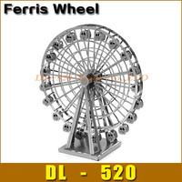 DIY model Build Metal 3D Models Metallic Nano Puzzle DIY 3D Ferris Wheel Laser Cut 3D Model,1 pcs free shipping