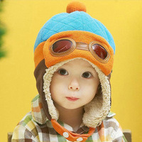 Winter baby hat 4 colors children caps lovely warm aviator hat style kids interested