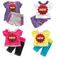 wholesale chidlren summer cloth set girl brand t shirt+pants children clothing set children 2014 new