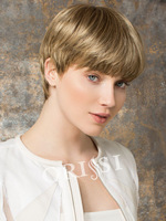 Cosplay Blonde Short Wigs Kanekalon Synthetic Lace Front Wigs for Women Peruca
