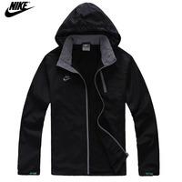 NIKE 2014 new Thin coat men's jacket leisure sport coat windproof Jacket autumn fashion Windbreaker Zipper Coats Free Shipping!