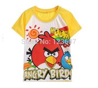 2014 new fashion boys t-shirt 100%cotton cartoon bird children's clothing short t summer hot-selling short-sleeve free shipping