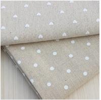 "50cm x 150cm (19""x60"") ,2 pcs / lot  ZAKKA linen cotton fabric home textile DIY cloth Printed Home Deco. fabric 2 designs White"