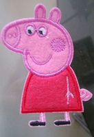 Peppa pig Cartoon Kids Iron On Patch Children Patch 7cm*5.3cm Christmas DIY gift card decor Customized Order Welcome