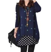Maternity clothing autumn fashion 2014 maternity sweater long-sleeve top outerwear sweatshirt