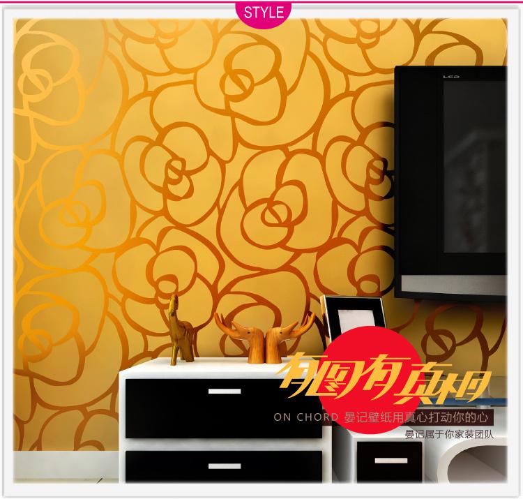 Golden Rose Wallpaper Glitter Golden Rose Flower