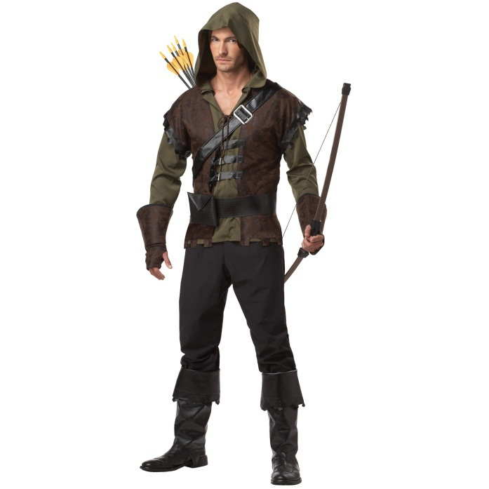 free shipping Mens Robin Hood Prince Of Thieves Peter Pan Fancy Dress Costume M L 2XL with pants or without pants(China (Mainland))