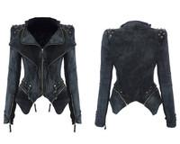 Fashion brand design women's rivet jacket top quality women's black color jeans jacket 2014 star fashion jeans jacket