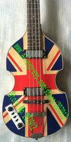 Hofner Beatles Violin Bass Chinese guitar factory left handed Union Jack  500-1 UK Jubilee Bass Guitar
