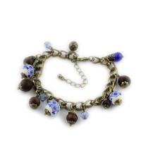 European and American female retro accessories ceramic bracelet hand jewelry wooden bead jewelry wholesale spherical facshion