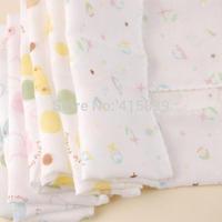 free shipping DHL/Fedex 500pcs/lot 31*31cm Natural cotton Gauze infant Cartoons Printed baby face towel Washcloth