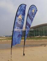 teardrop beach flag for trade show advertising