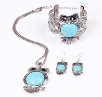 Wholesale New 2014 Fashion Jewelry  Women Hot Sale luxury Big Eagle Rhinestone  Three-piece Necklace Suits