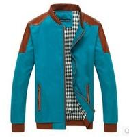 2014 Men Jackets Men's Baseball Jacket Spring Autumn Korean Fashion Casual Wear Business PU leather Splicing Slim Fit Jacket