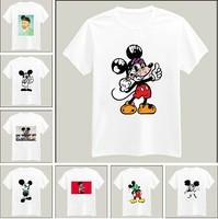 Funny Joke Mickey Mouse Print Tshirt For Women Men Short Sleeve Unisex Cotton Casual White Shirt Top Tee XXXL Big Size ZY053-11