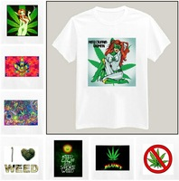 Weed Hemp Printed Tshirt For Women Men Short Sleeve Unisex Cotton Casual White Shirt Top Tee XXXL Big Size ZY055-14