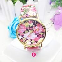 Unisex Elegant Blue and White Porcelain Watch Fancy Oriental Ceramics Watch Bright Flower Watch 10pcs/lot free shipping