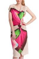 2014 Summer Women Dress Casual Print Geometric Dress Sexy Party Floral Dress O neck Bohemian Celebrity Lady Dress DG013