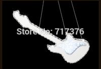 2014 the newest  lamp  LED crystal  Bass guitar crystal pendant light  led  ktv bar pendant  lights