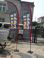 polyester beach flag knife shape banner