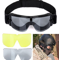 Cool!GX1000 Black 3 Colors Lens Goggle Glasses USMC Airsoft X800 Tactical Goggle Glasses Free Shipping