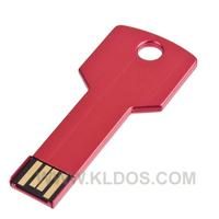Promotional Products Lot 50 Bulk USB Flash Drive Key Shape PenDrive USB Key  custom gifts Free Logo Red