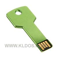 Promotional Products Lot 50 Bulk USB Flash Drive Key Shape PenDrive USB Key  custom gifts Free Logo Green