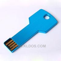 Promotional Products Lot 100 Bulk USB Flash Drive Key Shape PenDrive USB Key  custom gifts Free Logo Blue