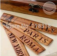 (4 Different Styles/Lot) DIY Zakka korea stationery vintage wood ruler wood chiban