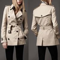 Royal autumn short design trench fashion women's