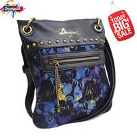 Desigual women handbag European and American vintage pu lace rivets Shoulder women Messenger Bags bolsas femininas