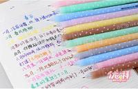 (1 Lot=18 Different Pcs) Cute Heart Colored Gel Pens Korean School Supplies Kawaii Canetas Stationery Markers Pen