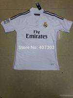 Real Madrid Away Pink 14-15 Thailand Quality Soccer Jersey/ Uniform Shirt Sports Clothing Fans Version Shirt Only Shirt No Short