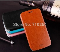 Original MOFI Side Open Flip PU Leather Case For Lenovo A560 With Retail Package, Free Shipping